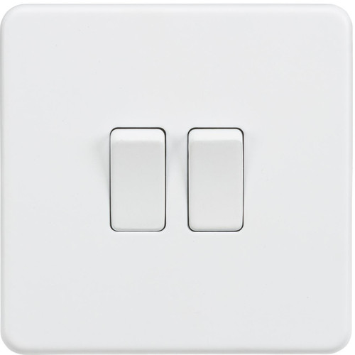 Screwless 10A 2G 2-Way Switch - Matt White (DFL1SF3000MW)