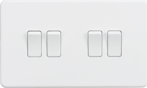 Screwless 10A 4G 2-Way Switch - Matt White (DFL1SF4100MW)
