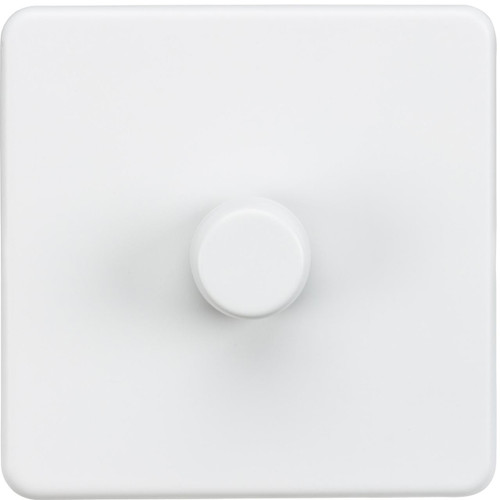 Screwless 1G 2-Way 10-200W (5-150W LED) Dimmer Switch - Matt White (DFL1SF2181MW)