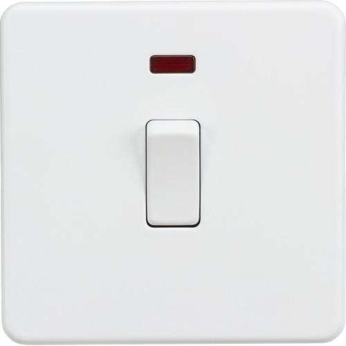 Screwless 20A 1G DP Switch with Neon - Matt White (DFL1SF8341NMW)