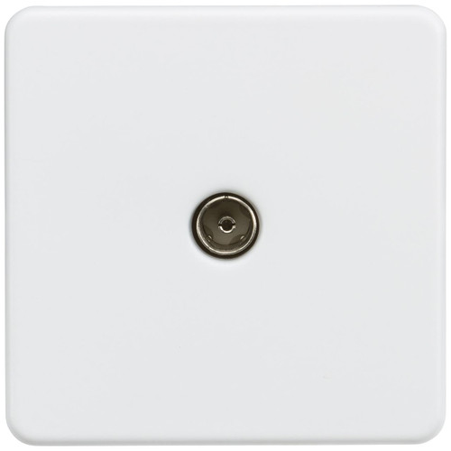 Screwless 1G TV Outlet (Non-Isolated) - Matt White (DFL1SF0100MW)