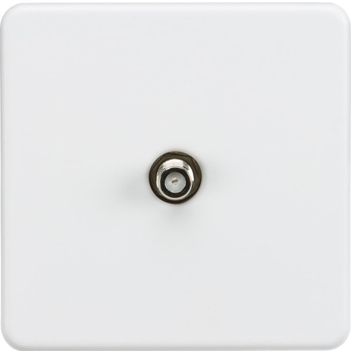 Screwless 1G SAT TV Outlet (Non-Isolated) - Matt White (DFL1SF0150MW)