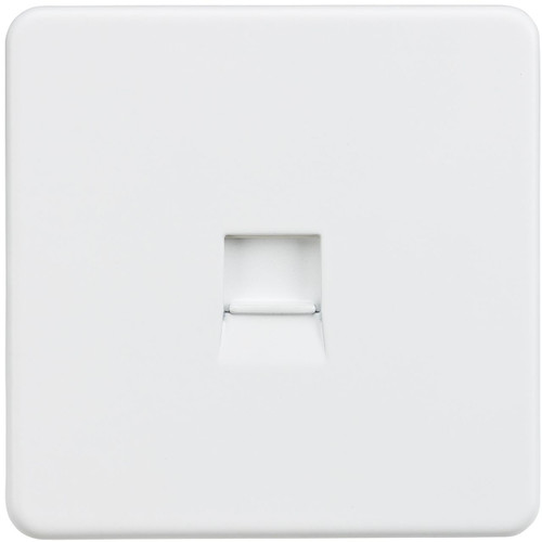 Screwless Telephone Extension Socket - Matt White (DFL1SF7400MW)