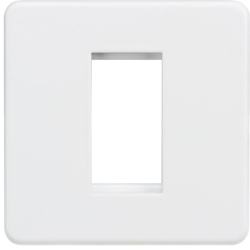 Screwless 1G Modular Faceplate - Matt White (DFL1SF1GMW)