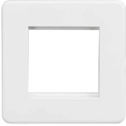 Screwless 2G modular faceplate - Matt White (DFL1SF2GMW)