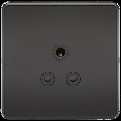 Screwless 5A Unswitched Socket - Matt Black (DFL1SF5AMB)
