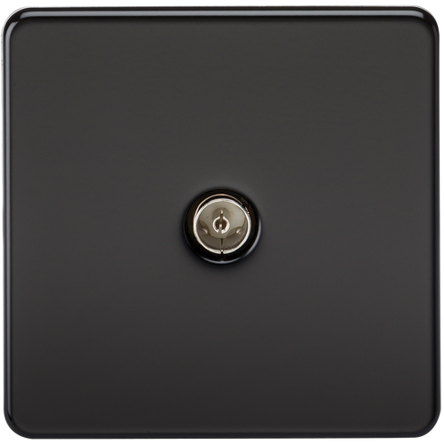 Screwless 1G TV Outlet (Non-Isolated) - Matt Black (DFL1SF0100MB)
