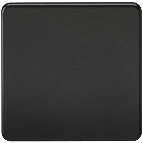 Screwless 1G Blanking Plate - Matt Black (DFL1SF8350MB)