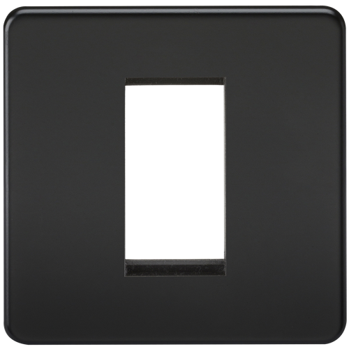 Screwless 1G Modular Faceplate - Matt Black (DFL1SF1GMB)