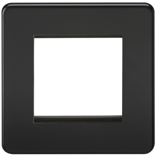 Screwless 2G modular faceplate - Matt Black (DFL1SF2GMB)
