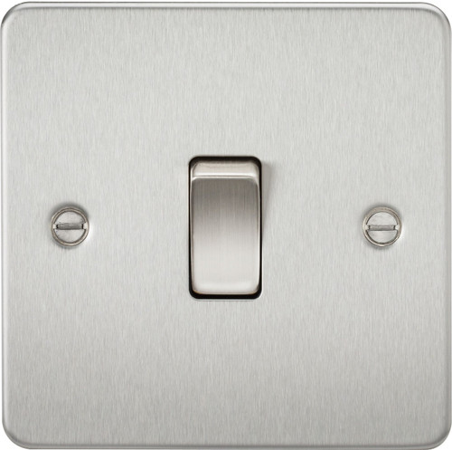 Flat Plate 10A 1G Intermediate Switch - Brushed Chrome (DFL1FP1200BC)