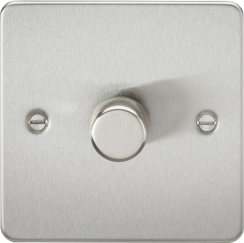 Flat Plate 1G 2-Way 10-200W (5-150W LED) Dimmer Switch - Brushed Chrome (DFL1FP2181BC)