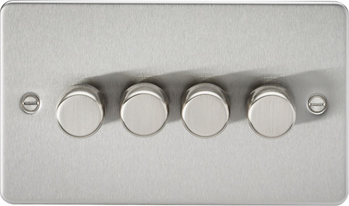 Flat Plate 4G 2-Way 10-200W (5-150W LED) Dimmer Switch - Brushed Chrome (DFL1FP2184BC)