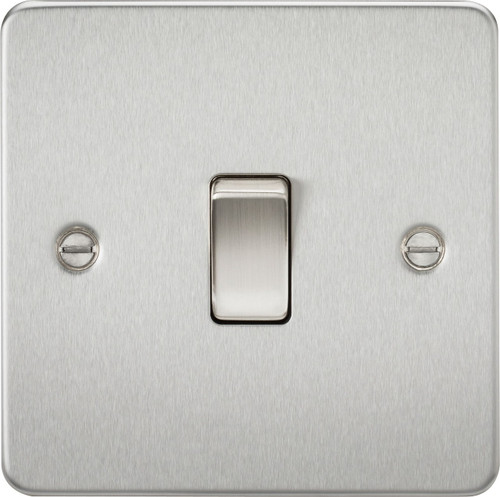 Flat Plate 20A 1G DP Switch - Brushed Chrome (DFL1FP8341BC)