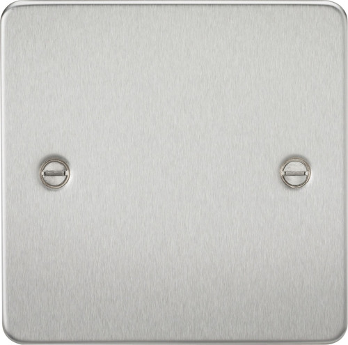 Flat Plate 1G Blanking Plate - Brushed Chrome (DFL1FP8350BC)