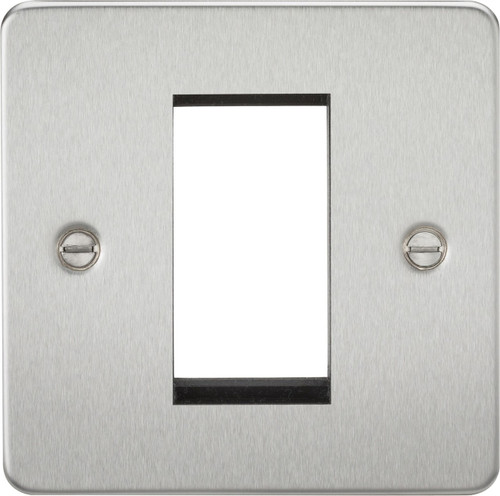 Flat Plate 1G Modular Faceplate - Brushed Chrome (DFL1FP1GBC)