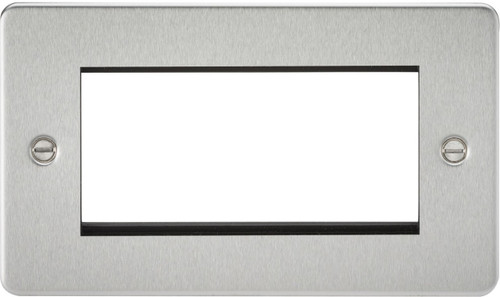 Flat Plate 4G Modular Faceplate - Brushed Chrome (DFL1FP4GBC)