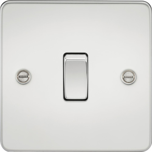 Flat Plate 10A 1G 2-Way Switch - Polished Chrome (DFL1FP2000PC)