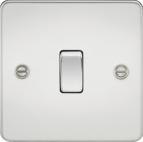 Flat Plate 10A 1G Intermediate Switch - Polished Chrome (DFL1FP1200PC)