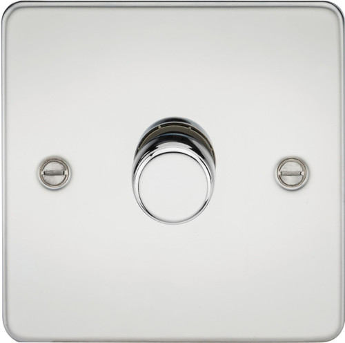 Flat Plate 1G 2-Way 10-200W (5-150W LED) Dimmer Switch - Polished Chrome (DFL1FP2181PC)