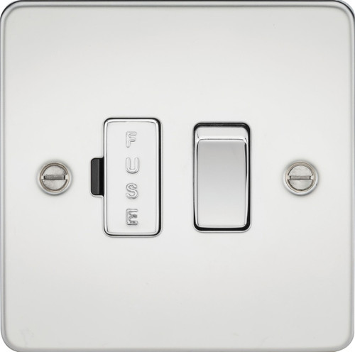 Flat Plate 13A Switched Fused Spur Unit - Polished Chrome (DFL1FP6300PC)