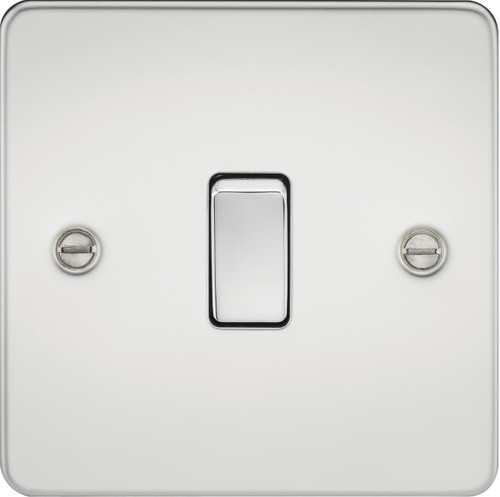 Flat Plate 20A 1G DP Switch - Polished Chrome (DFL1FP8341PC)
