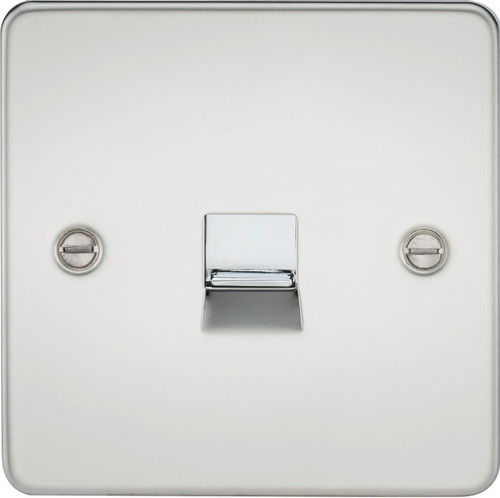Flat Plate Telephone Master Socket - Polished Chrome (DFL1FP7300PC)