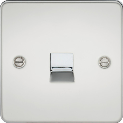 Flat Plate Telephone Extension Socket - Polished Chrome (DFL1FP7400PC)