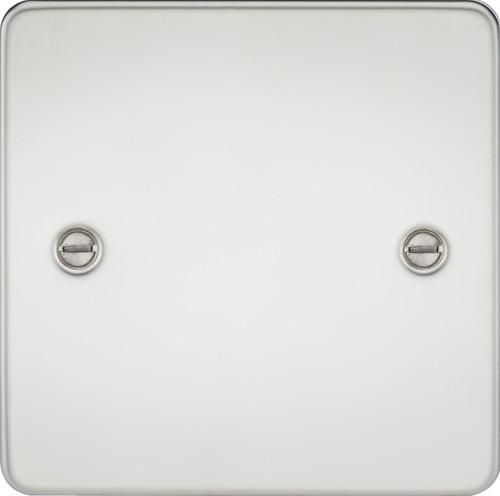 Flat Plate 1G Blanking Plate - Polished Chrome (DFL1FP8350PC)