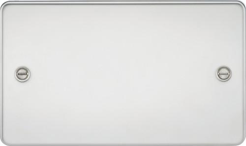 Flat Plate 2G Blanking Plate - Polished Chrome (DFL1FP8360PC)