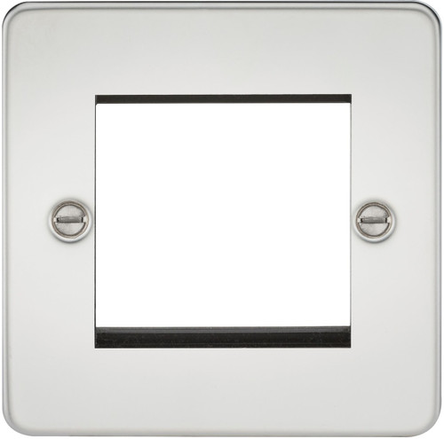 Flat Plate 2G modular faceplate - Polished Chrome (DFL1FP2GPC)