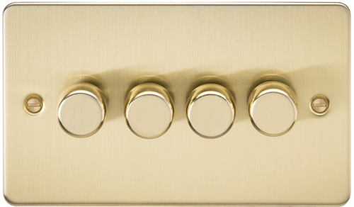 Flat Plate 4G 2-Way 60-400W Dimmer Switch - Brushed Brass (DFL1FP2164BB)