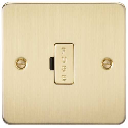 Flat Plate 13A Fused Spur Unit - Brushed Brass (DFL1FP6000BB)