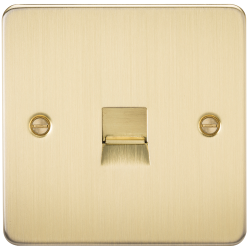 Flat Plate Telephone Master Socket - Brushed Brass (DFL1FP7300BB)