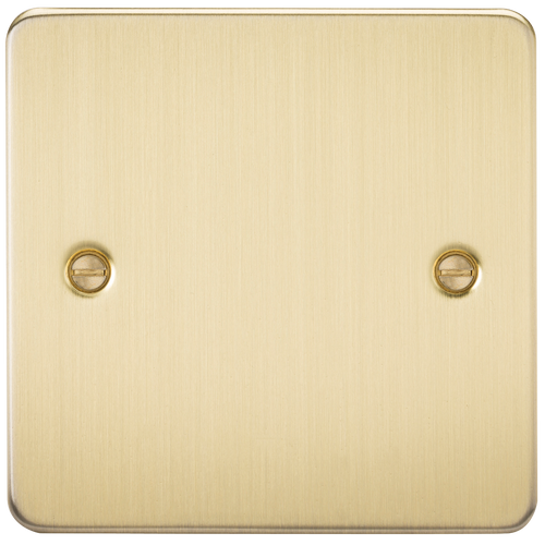 Flat Plate 1G Blanking Plate - Brushed Brass (DFL1FP8350BB)
