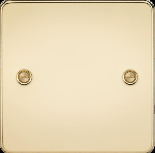 Flat Plate 1G Blanking Plate - Polished Brass (DFL1FP8350PB)