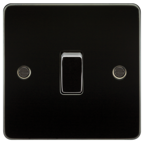 Flat Plate 10A 1G Intermediate Switch - Gunmetal (DFL1FP1200GM)
