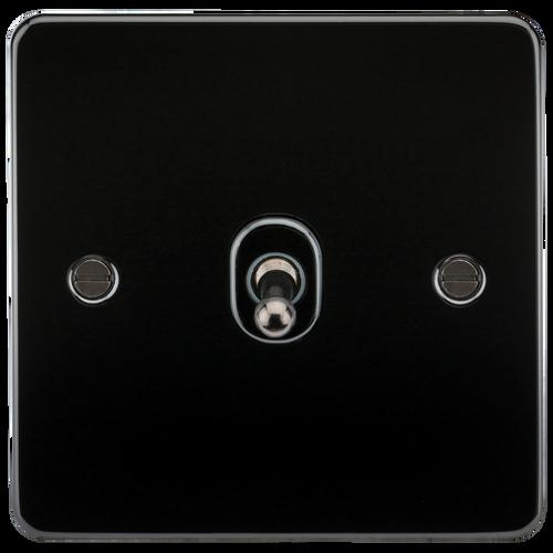 Flat Plate 10A 1G 2-Way Toggle Switch - Gunmetal (DFL1FP1TOGGM)