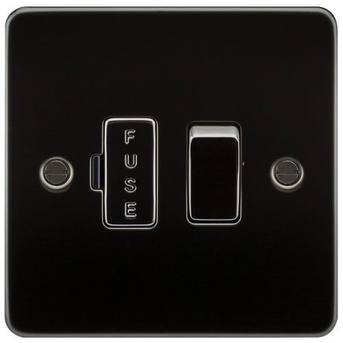 Flat Plate 13A Switched Fused Spur Unit - Gunmetal (DFL1FP6300GM)