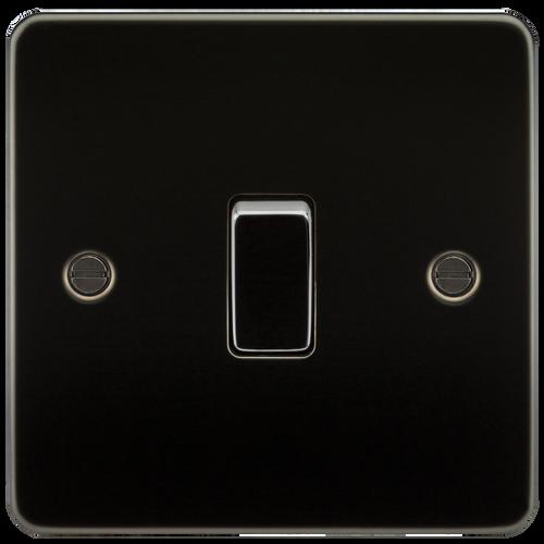 Flat Plate 20A 1G DP Switch - Gunmetal (DFL1FP8341GM)