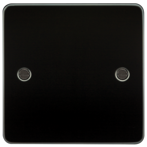 Flat Plate 1G Blanking Plate - Gunmetal (DFL1FP8350GM)