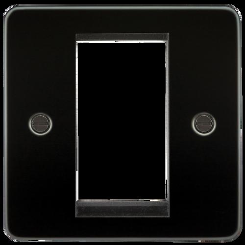 Flat Plate 1G Modular Faceplate - Gunmetal (DFL1FP1GGM)