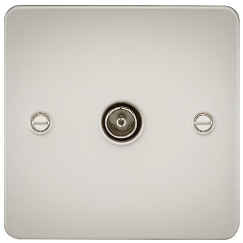 Flat Plate 1G TV Outlet (non-isolated) - Pearl (DFL1FP0100PL)