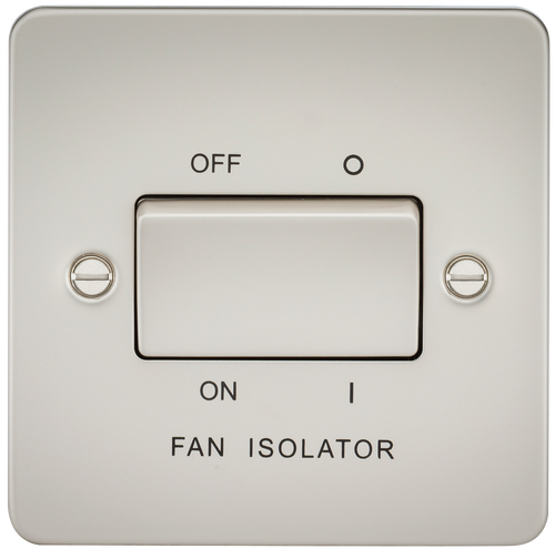 Flat Plate 10A 3 Pole Fan Isolator Switch - Pearl (DFL1FP1100PL)