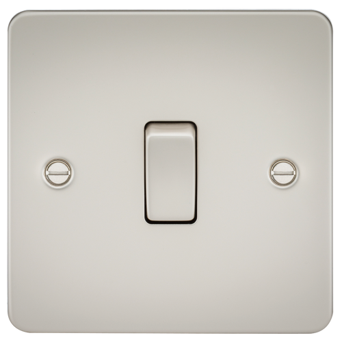 Flat Plate 10A 1G Intermediate Switch - Pearl (DFL1FP1200PL)