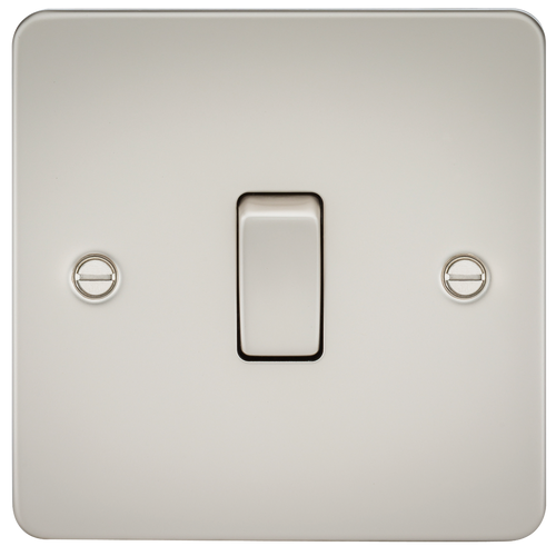Flat Plate 10A 1G 2 Way Switch - Pearl (DFL1FP2000PL)