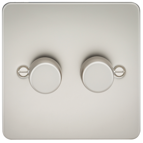 Flat Plate 2G 2 Way Dimmer 10-200W (5-150W LED) - Pearl (DFL1FP2182PL)