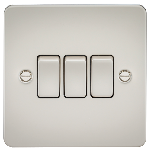 FLAT PLATE 10A 3G 2 WAY SWITCH - PEARL (DFL1FP4000PL)