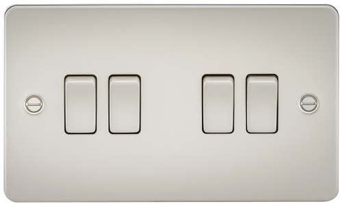 FLAT PLATE 10A 4G 2 WAY SWITCH - PEARL (DFL1FP4100PL)