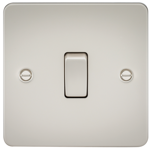 FLAT PLATE 20A 1G DP SWITCH - PEARL (DFL1FP8341PL)
